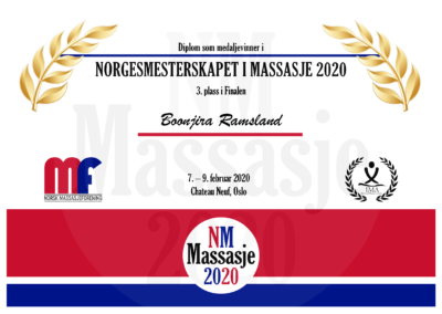Boonjira Ramsland Finale Norgesmesterskap Massasje 2020