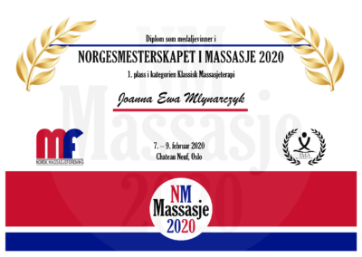 Joanna Ewa Mlynarczyk Klassisk Massasjeterapi Norgesmesterskap Massasje 2020