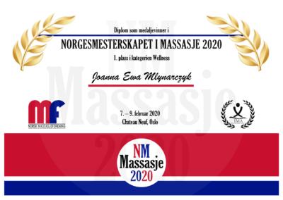 Joanna Ewa Mlynarczyk Wellness Norgesmesterskap Massasje 2020