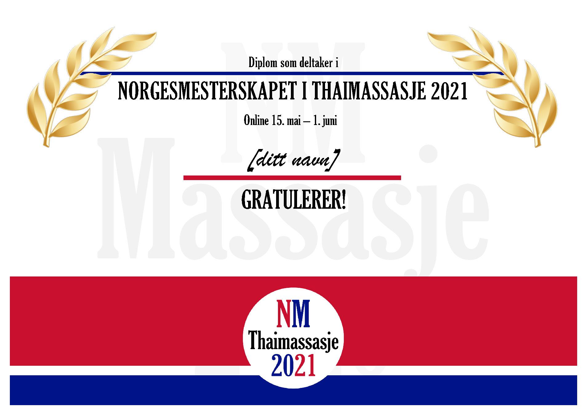 NM i Thaimassasje 2021