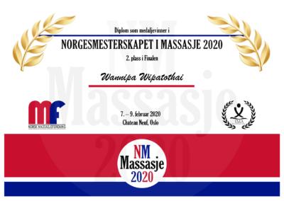 Wannipa Wipatothai Finale Norgesmesterskap Massasje 2020
